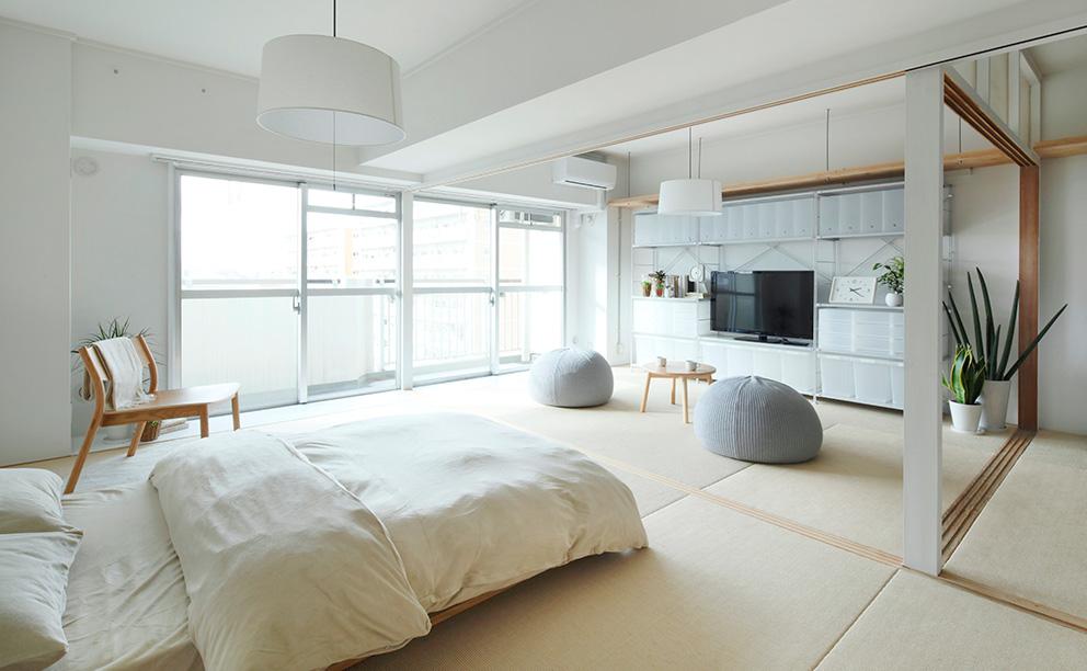 Plan28<風通しの良い一室空間>麻畳でつながる、明るいLDK